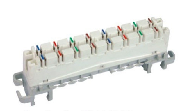 Highband 8 Pairs Module 110 Punch Block Cat6 PC Material For Networking