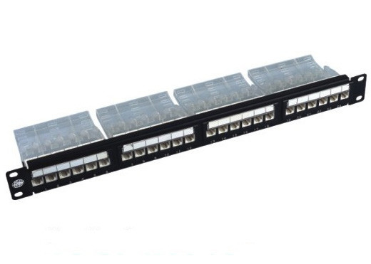 "19"" 24 Port Rack Mount Patch Panel Cat6 110-IDC UTP Unshielded For Cabling"