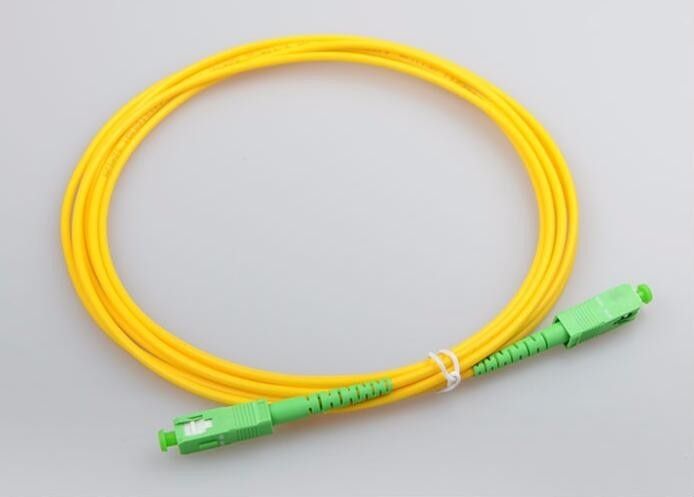 SC / APC - SC / APC 3m SM SX 2.0 3.0mm Patch Cable Optical Fiber Patch Cord LSZH
