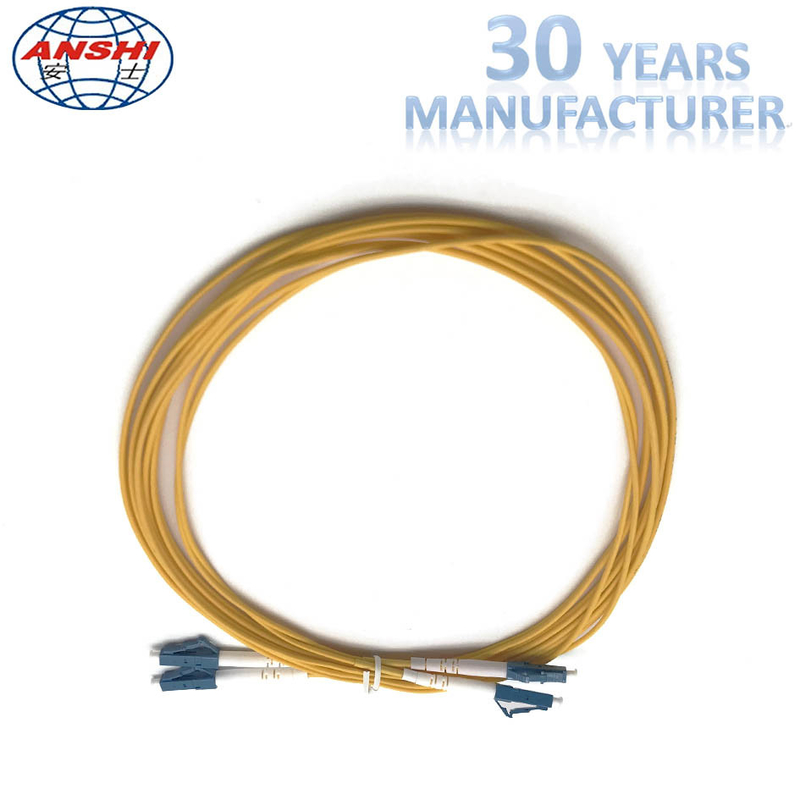 2 Meters Optical Fiber Patch Cord , Duplex Fiber Optic Patch Cable G652D