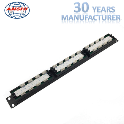 ANSHI 25 Ports RJ11 Krone IDC Patch Panel Unshielded Type 1U Height